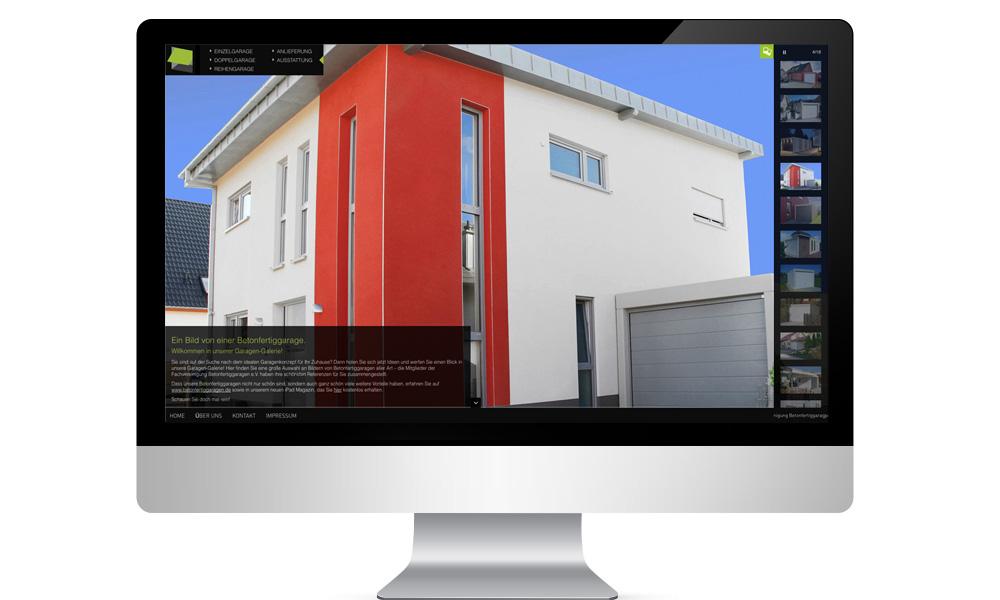 Bildschirm Haus mit Betonfertigarage