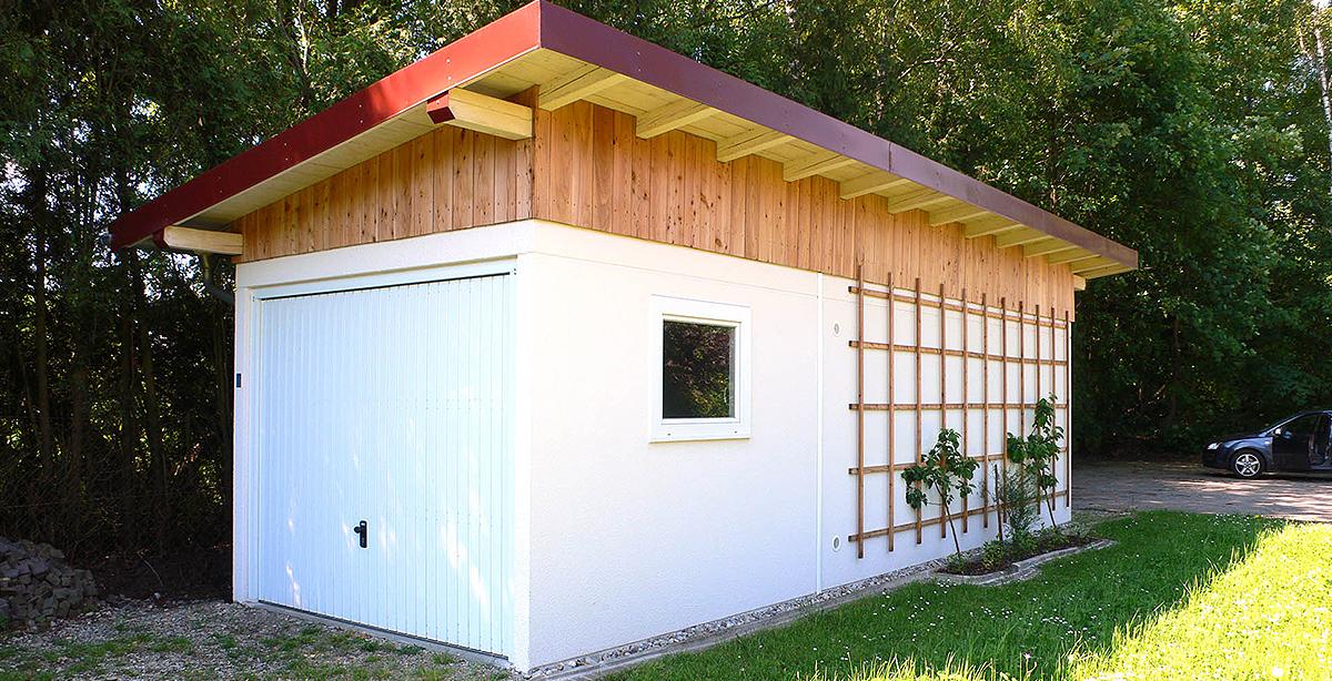 Betonfertiggaragen können mit verschiedenen Dacharten ausgestattet werden