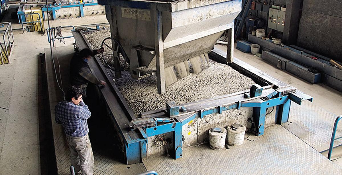 Herstellung einer Fertiggarage aus Beton