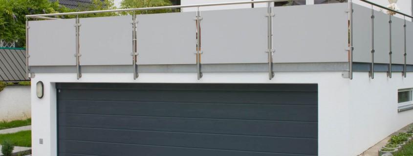 Doppelgarage mit Dachterrasse