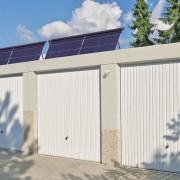Reihengarage mit Solaranlage