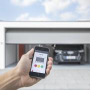 Smarte Betonfertiggarage mit Smartphone verbinden
