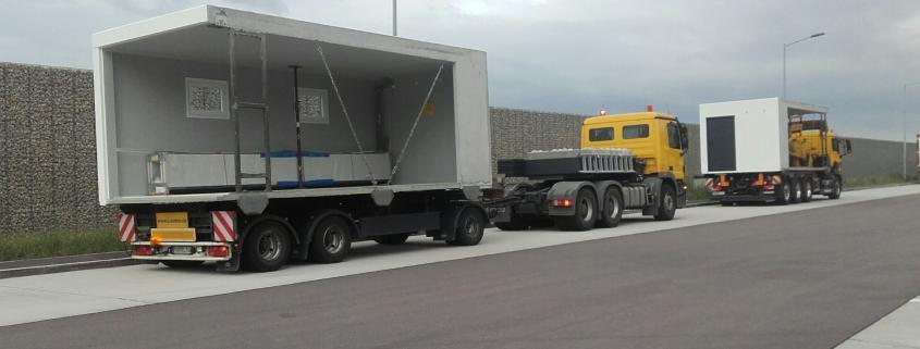 Transporte von Betonfertiggaragen